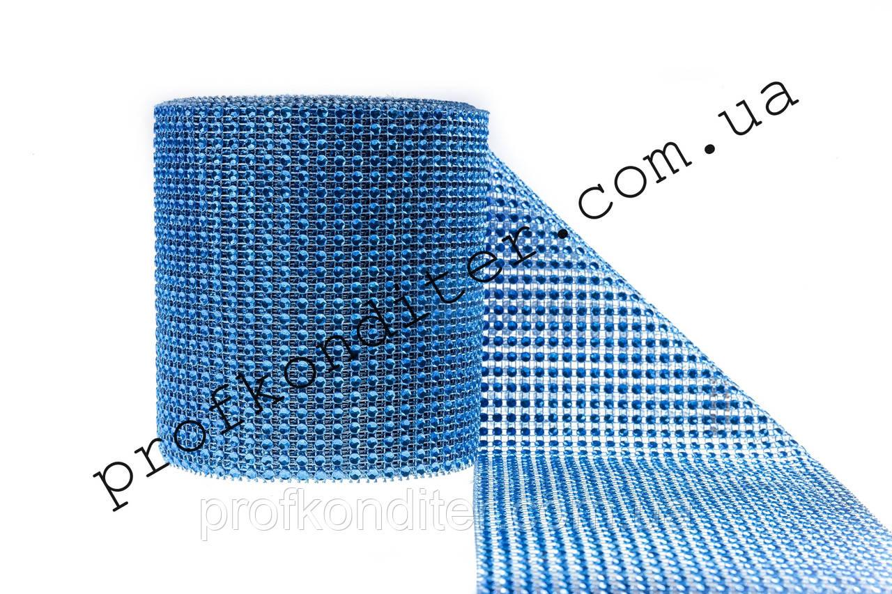 Декоративна стрічка для декору Синій електрик ширина 6см