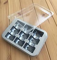 Упаковка для Макарон с крышкой на 9 шт.