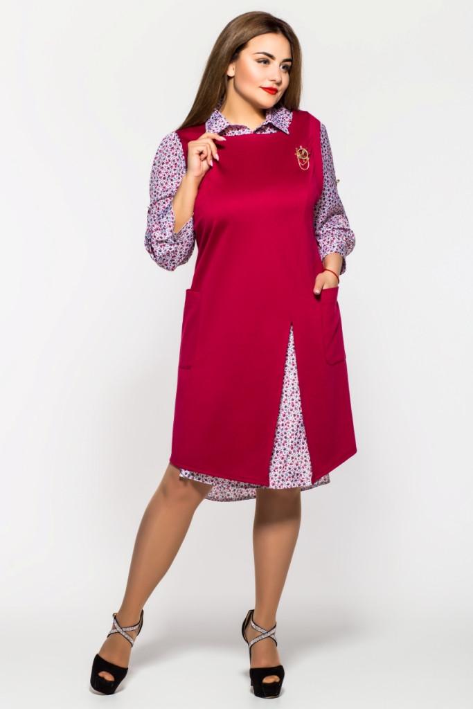 Женский костюм  двойка Алиссия (2 цвета), юбочный костюм большого размера -  Irmana.com.ua - оптовый интернет магазин одежды в Харькове