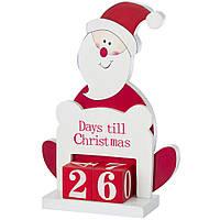 Календарь Санта Клаус Деревянный