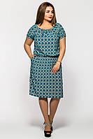 Платье большого размера Лагуна, платья для полных