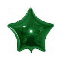 Звезда фольгированная 18 дюймов зеленая flexmetal
