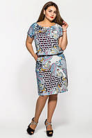 Платье большого размера Палитра (2 цвета), платья для полных