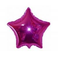 Звезда фольгированная 18 дюймов малиновая flexmetal