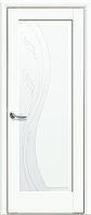 Двері міжкімнатні Новий Стиль, Маестра, модель Ескада, Скло сатин з малюнком P2 білий матовий