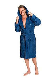 Чоловічий халат L&L KAJ з капішоном бамбук