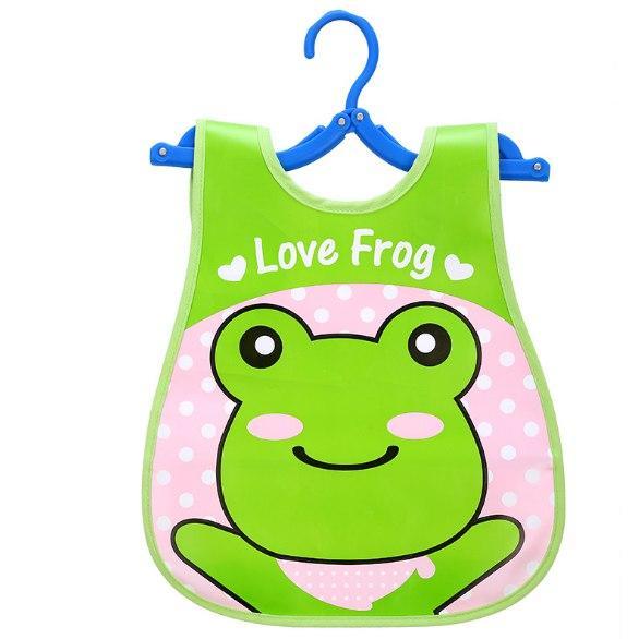 Слюнявчик на липучке Love Frog (02142)
