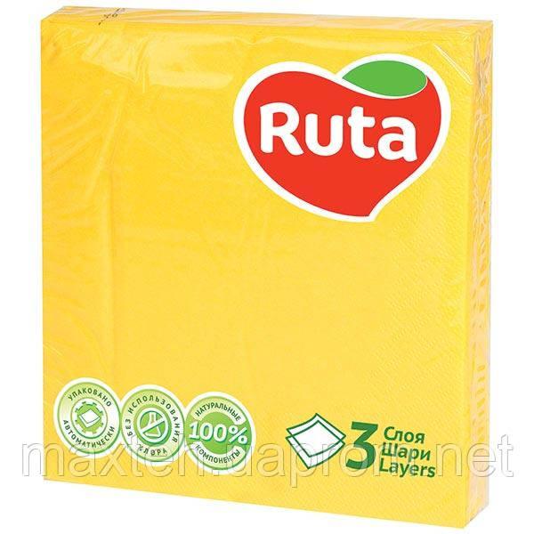 Салфетки Ruta Колор 33х33 желтые