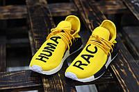 Мужские Кроссовки Adidas Pharrell Williams NMD Human Race Yellow  (реплика), фото 1