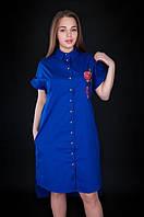 Оригинальное платье-рубашка с декором