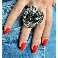 Новомодное стильное оригинальное кольцо. Необычное кольцо для девушки. Хорошее качество. Дешево. Код: КГ1227