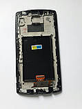Дисплей LG G4 F500/H815/H818// P1 чорний, з тачскріном і рамкою, в зборі, фото 2