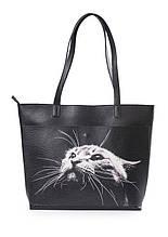 Кожаные женские сумки-шопперы