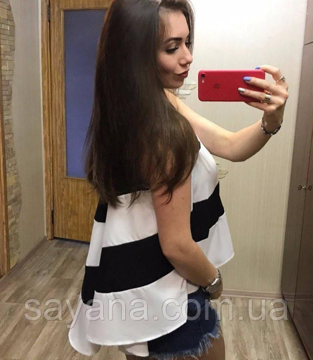 Женская блуза со шлейфом