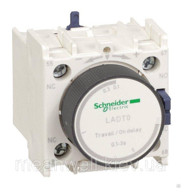 LADT0 Пневматические контакты с выдержкой времени Schneider Electric (серии D) на срабатывания, 0,1...3 сек