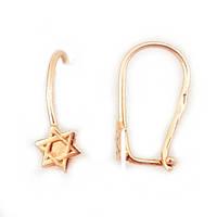 Сережки детские золотые звезда Давида