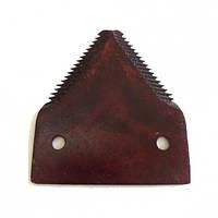 P49650 Сегмент ножа жатки с верхней мелкой насечкой (AZ32298/41817.02), JD800