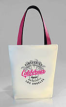 """Женская сумка """"California"""" Б399 - белая с розовыми"""