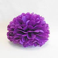 Помпон бумажный фиолетовый 25 см.