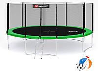 Батут Hop-Sport 16ft (488cm) зеленый с внешней  сеткой
