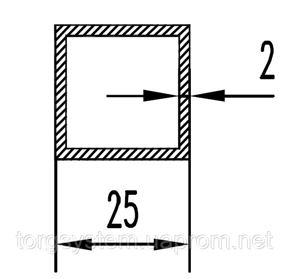 Алюмінієва Труба квадратна ПАС-2033 25х25х2, а Без покриття