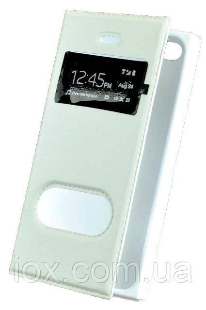 Белый чехол-книжка с функцией подставки для Iphone 4/4S