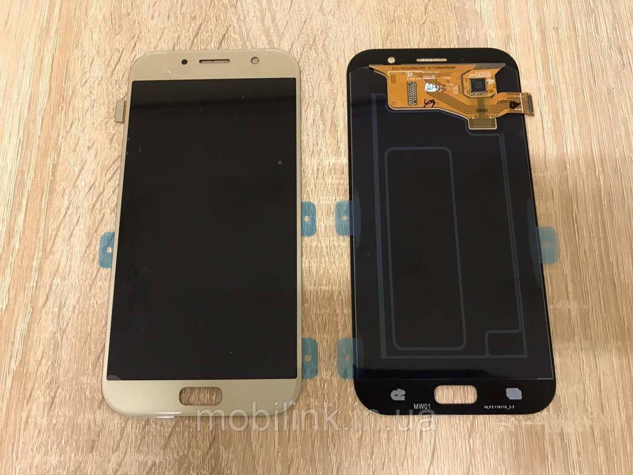 Дисплей на Samsung A720 Galaxy A7(2017) Золото(Gold),GH97-19723B, Super AMOLED!