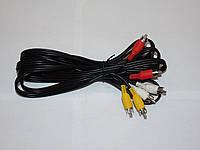 Шнур 3RCA-3RCA 5m  (VK30023)