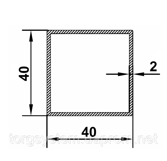 Алюмінієва Труба квадратна ПАА-1092 40х40х2 / AS Срібло