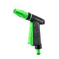 Поливочный пистолет 2101: 10 штук в упаковке, пластик, 4 режима, черный с зелеными вставками
