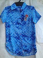 """Рубашка детская (116-134 см) (штапель) Розница """"Odessa Mama"""" M-629"""