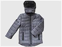 """Детская куртка """"Дракон"""" серая для мальчика VITALIYA"""