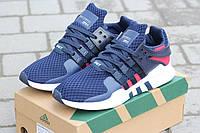 Мужские спортивные кроссовки  Adidas Equipment (темно-синие с белым)