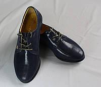 Туфли мокасины на шнурках для девочки. Натуральная кожа 0356