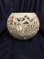Резная ваза-шар