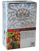 """Windsor – Black Tea """"Mixed fruit"""" 100g – Виндзор «Черный чай со смесью тропических фруктов» 100г."""