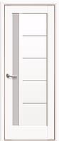 Двері міжкімнатні Новий Стиль, Ностра, модель Грета білий матовий, зі склом сатин