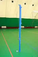 Стойки волейбольные с регулированием по высоте и с устройством натяжения  троса