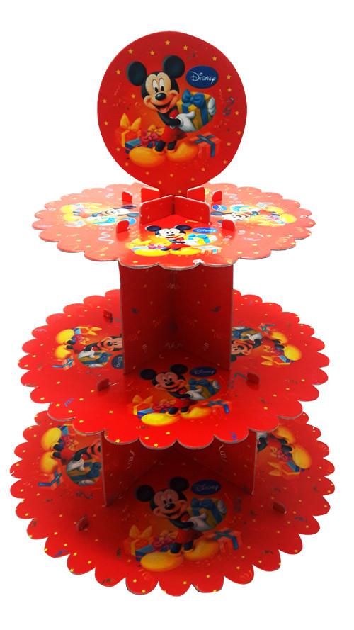 Стойка для кексов 3 яруса Микки Маус