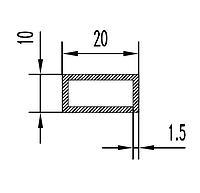Алюмінієва Труба прямокутна ПАС-1760 20х10х1.5 / AS Срібло