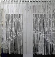 Тюль Магнолия (фабричная) ширина 3,0м, высота 1,5 м.