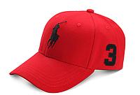 Кепка мужская Polo. Кепка женская Поло. Бейсболка | Красная