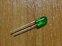Светодиод 5мм зеленый диффузный