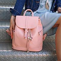 Рюкзак-сумка кожаный женский розовый (ручная работа), фото 1