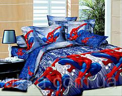Детское постельное белье полуторное Человек паук подростковый