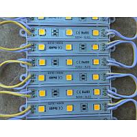 Светодиодный модуль рекламный желтый свет MR3L5054Y 3 светодиода SMD5054 IP66