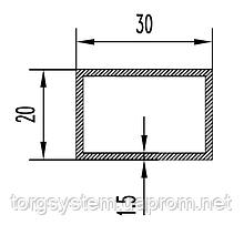 Алюмінієва Труба прямокутна ПАС-0518 30х20х1.5 / AS Срібло