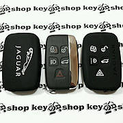 Чехол (силиконовый) для смарт ключа Jaguar (Ягуар) 5 кнопок