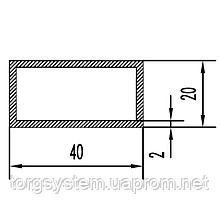 Алюмінієва Труба прямокутна ПАС-1541 40х20х2 / AG Золото