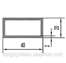Алюмінієва Труба прямокутна ПАС-1541 40х20х2 / AS Срібло